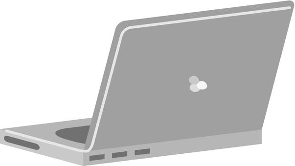 ノートパソコン(斜め後ろ)