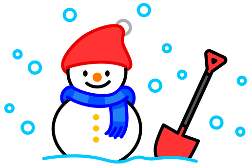 Snow removal shovel and snowman 2