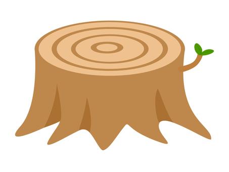 Illustration of stump