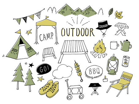 Camping Outdoor handwriting