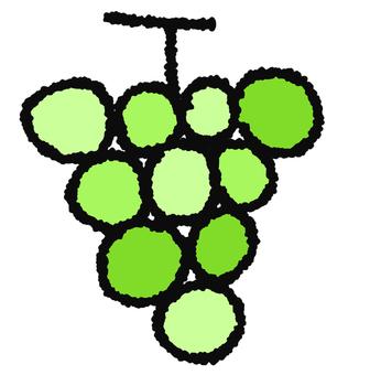 Yellow green grapes