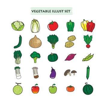 Illustration of vegetables