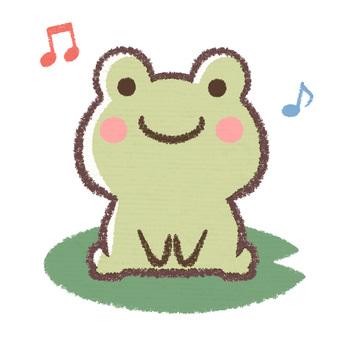Leaf riding frog