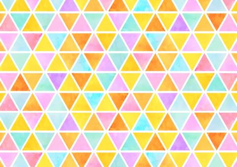 Background material Triangular tile warm color