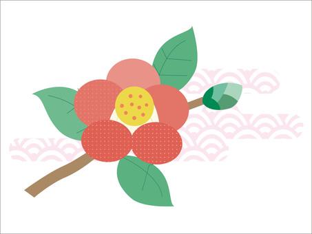 꽃의 소재 061 동백