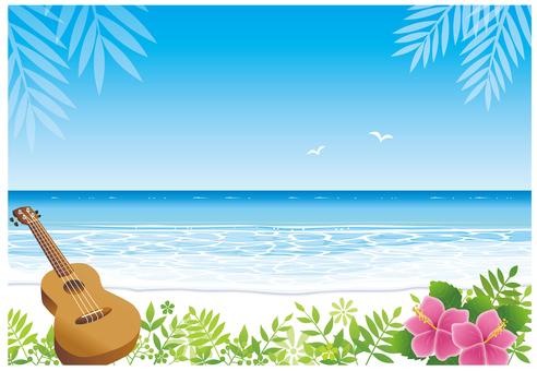 Beach background Horizontal