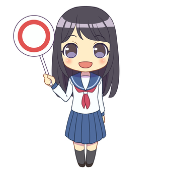 Sailor uniform girl ○ 1