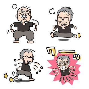 Grandfather / Irritated / Set