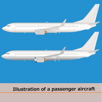 Airliner plane b-737