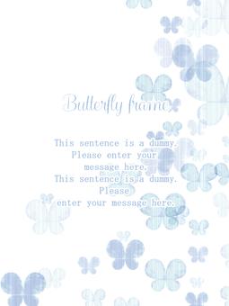 Butterfly frame 01 / blue b