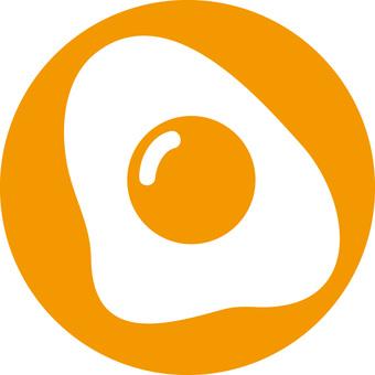 Rough icon fried egg