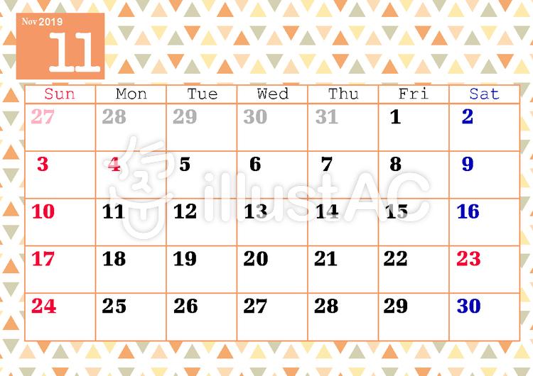 11月カレンダーイラスト No 1325028無料イラストならイラストac