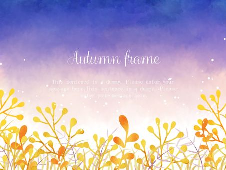 Autumn grass frame 01 / purple