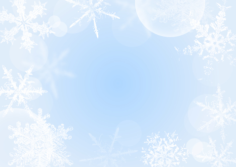 Christmas frame snow crystal light blue color