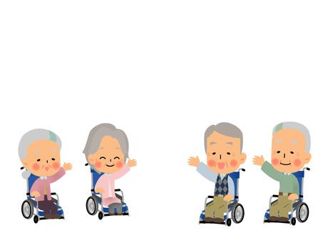 Elderly wheelchair set 3