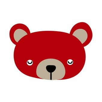 Red bear's face