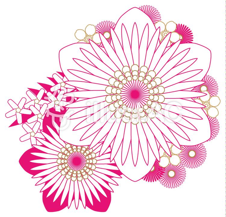 上品な花飾りイラスト No 369831無料イラストならイラストac
