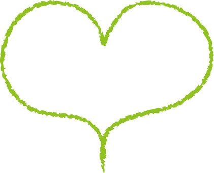 Heart (line drawing / yellow green)