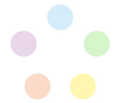 Pale circular chart flow circulation diagram