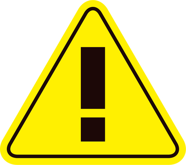 Attention mark_Triangle_Yellow_04
