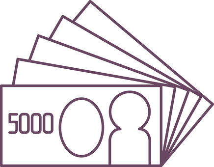 Five thousand yen bill (5 sheets)
