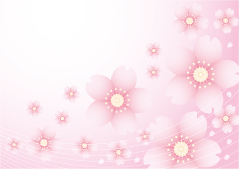 Cherry blossom petal background with transparency