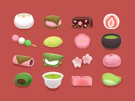 봄의 일본식 과자