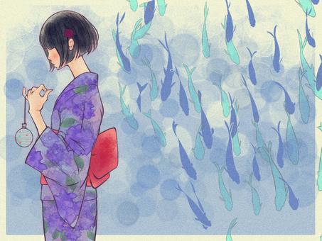 Kappa girl in yukata