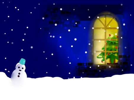 Christmas landscape (night)