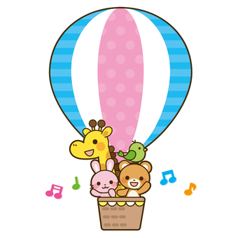 Animals in a balloon