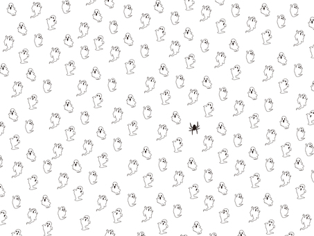 Halloween pattern (white ghost)