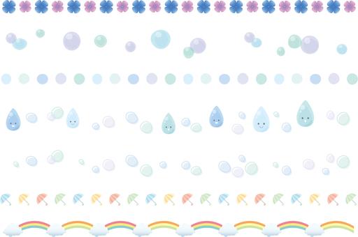 Decorative ruling of the rainy season image