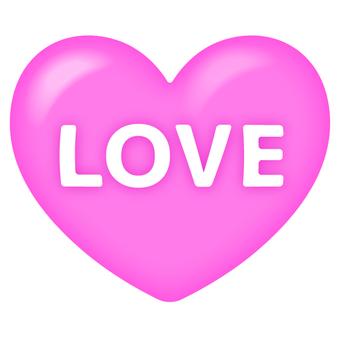 Plump love heart pink