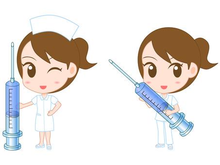 주사기와 간호사