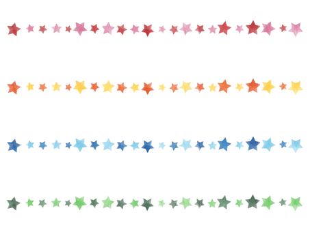 Water color line star