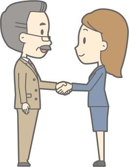 Handshake -01- Whole body