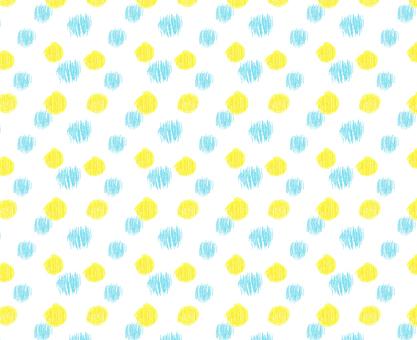 パターン ドット水色黄色