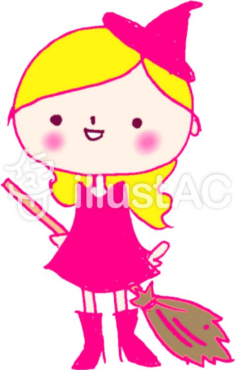 かわいい魔女ピンクイラスト No 459450無料イラストなら