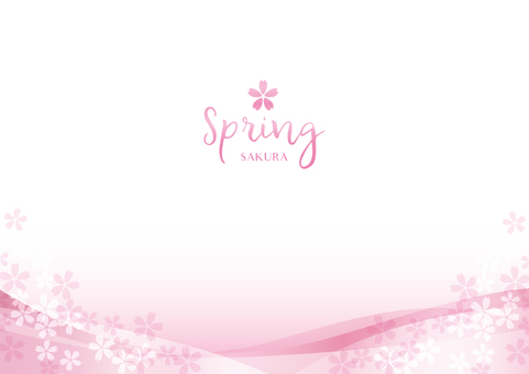 Spring background frame 025 Cherry clear feeling