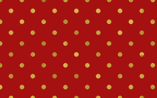 Dot Pattern Red Gold