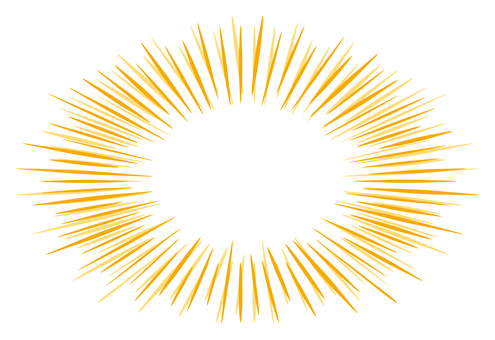 Radial ellipse frame Orange