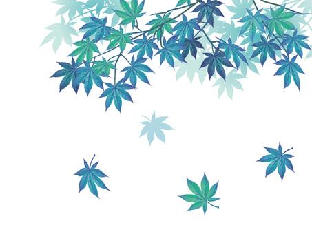 Fresh Blue Maple Branch Cutout 04