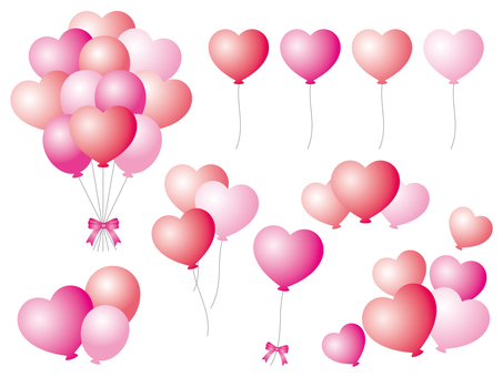 Red and pink balloon set