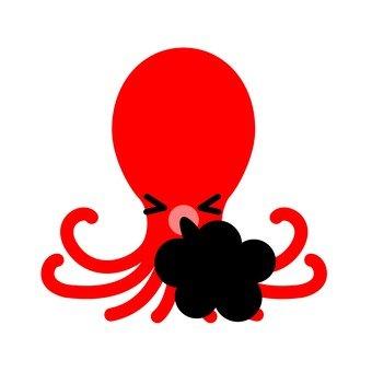 章魚隨地吐痰墨水