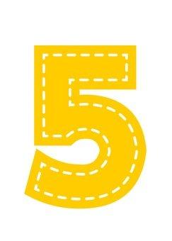Numerals (5) Applique style