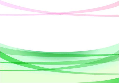 심플한 곡선의 이미지 녹색