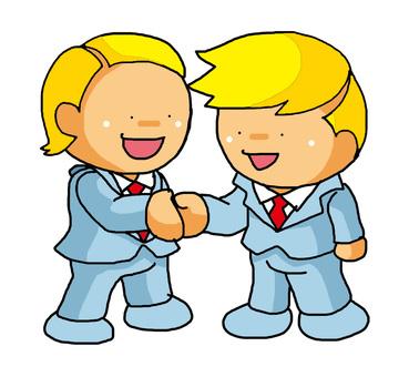 Salary handshake white