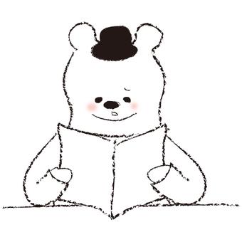 Kuma _ reading book