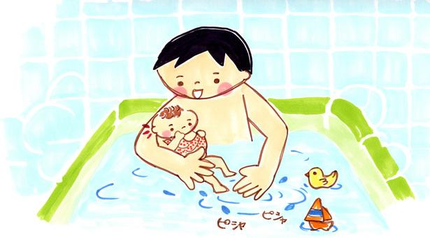 Dad and bath
