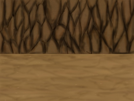 Cave's diorama background